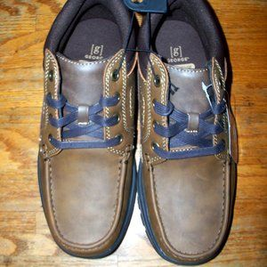 Mens Brown Lace-Up Casual Gunther Boot Shoes